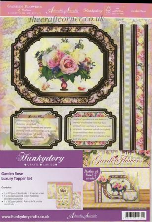 Garden Rose Luxury Topper Set By Hunkydory